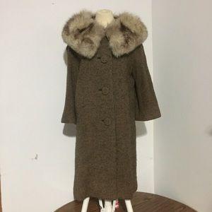 Fur Collared Pea Coat